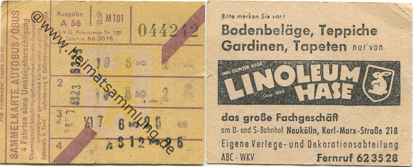 4 Fahrten Karte Bvg.Historische Fahrkarten Alte Fahrscheine Berlin 08