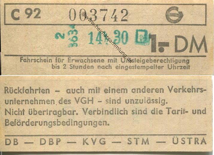 üstra tickets