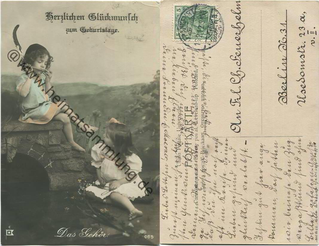 Historische Ansichtskarten Gluckwunsch Geburtstag 02