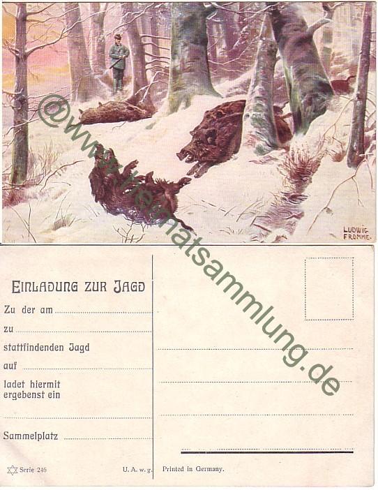 historische-ansichtskarten-jagd-02, Einladung