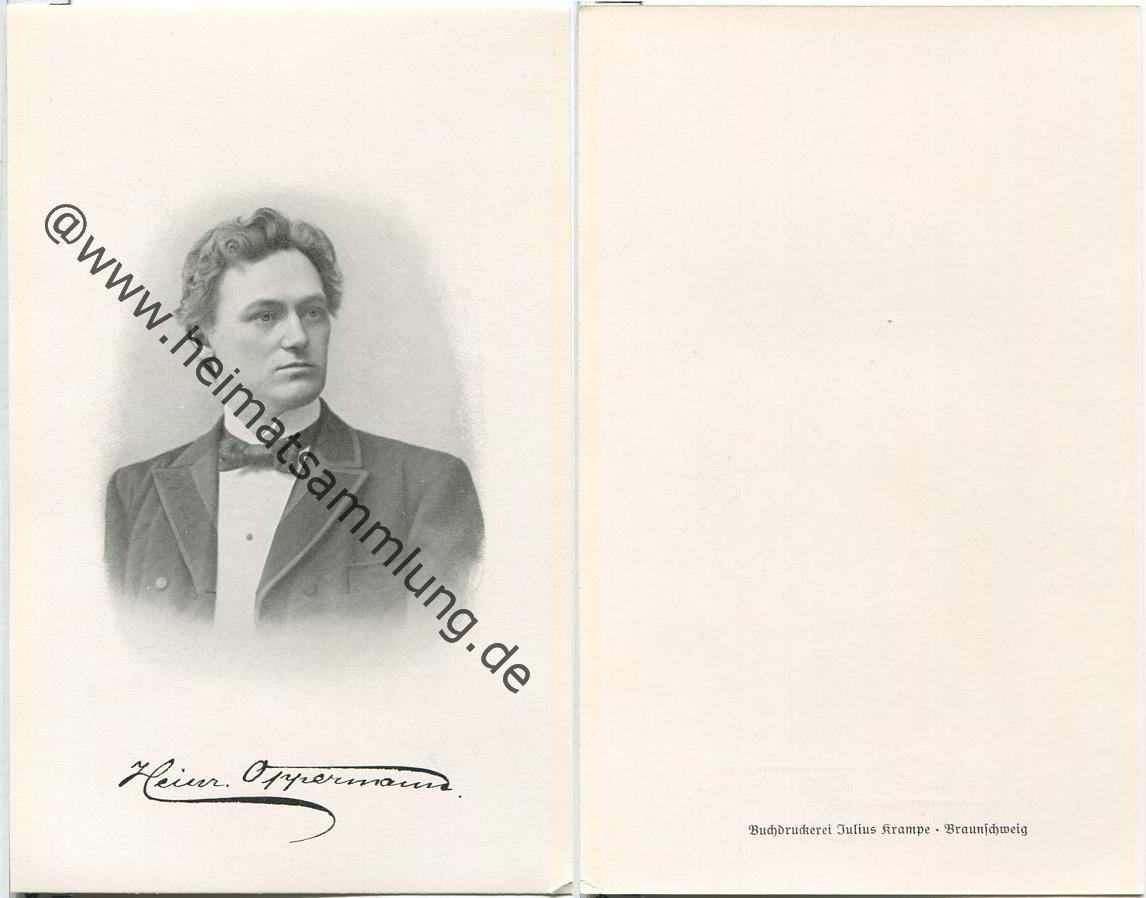 Oppermann Braunschweig historische ansichtskarten herzogliches hoftheater braunschweig