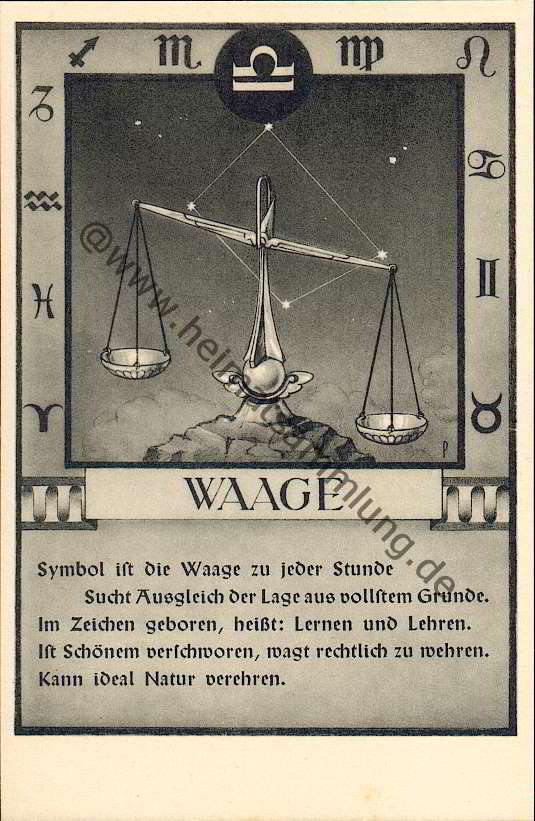 Historische-Ansichtskarten-Sternzeichen