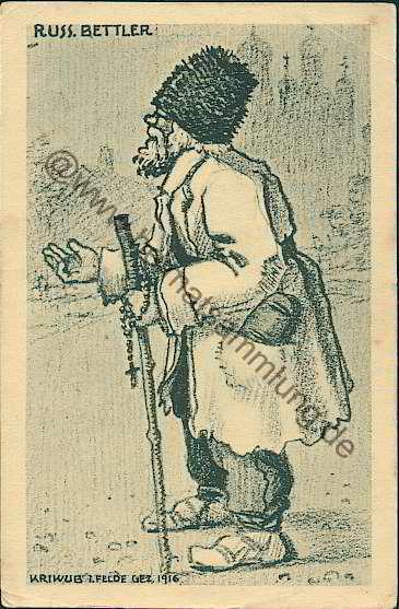 Russischer bettler mazedonier ruthenische bauern muzelman