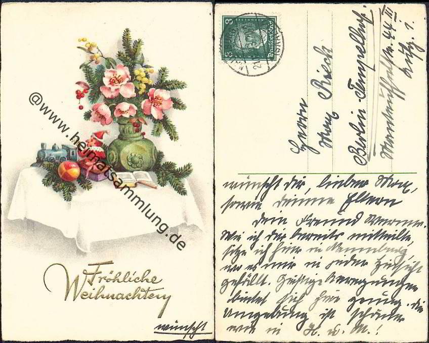 Weihnachtsgrüße Postkarte.Historische Ansichtskarten Glückwunsch Weihnachten 01