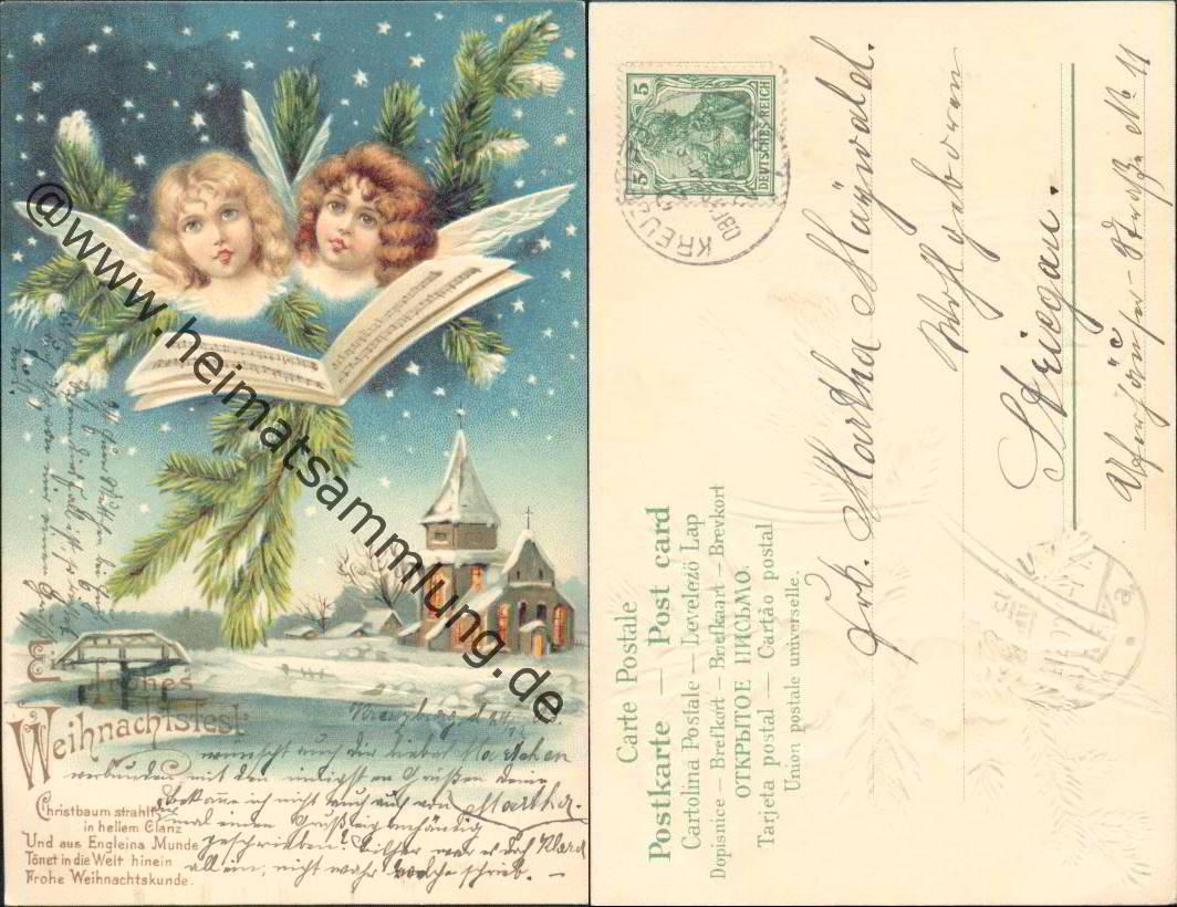 historische ansichtskarten gl ckwunsch weihnachten 04. Black Bedroom Furniture Sets. Home Design Ideas