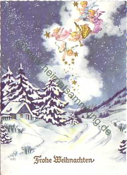 Glückwünsche Zu Weihnachten.Historische Ansichtskarten Glückwunsch Weihnachten 02