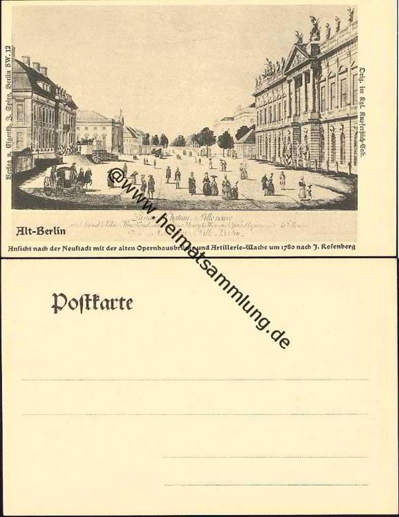 Historische Ansichtskarten Alt Berlin 03