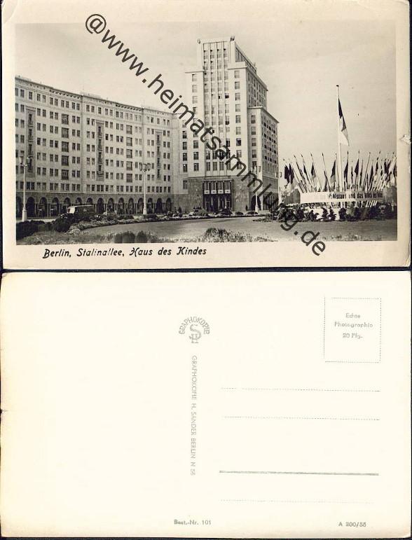 historische ansichtskarten berlin mitte stalinallee 01. Black Bedroom Furniture Sets. Home Design Ideas