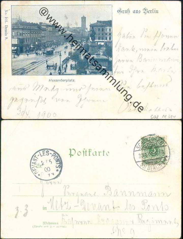 Historische ansichtskarten berlin mitte alexanderplatz 01 - Stempel berlin mitte ...