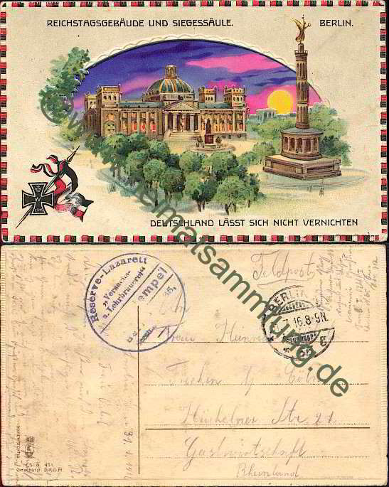 Historische ansichtskarten berlin mitte reichstag 02 for Stempel berlin mitte