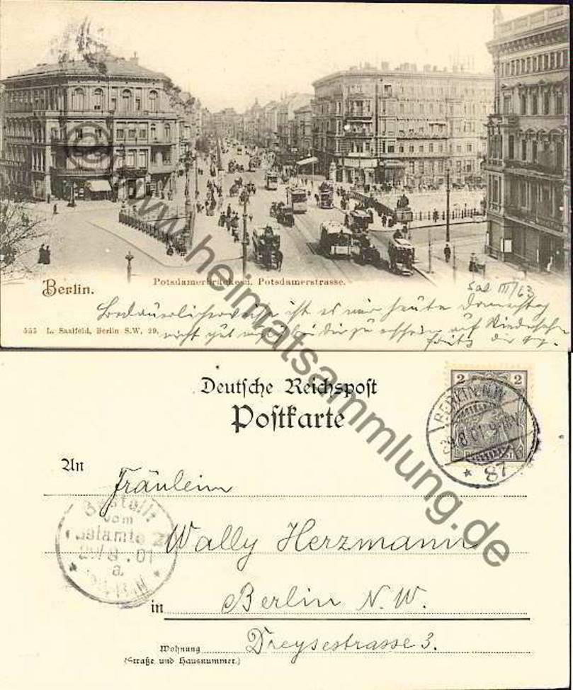 Historische ansichtskarten berlin mitte br cken 01 for Stempel berlin mitte