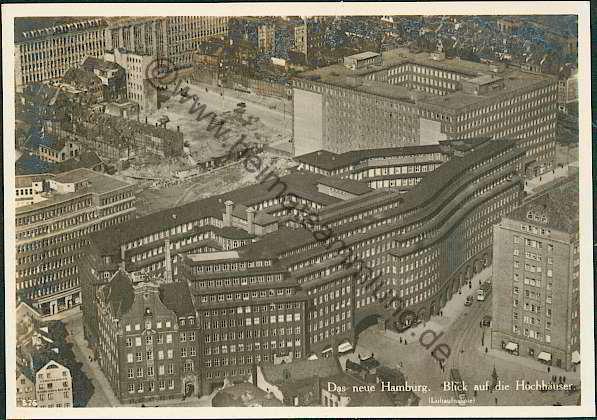 Hamburg blick auf die hochhäuser wiener postkarten verlag hamburg