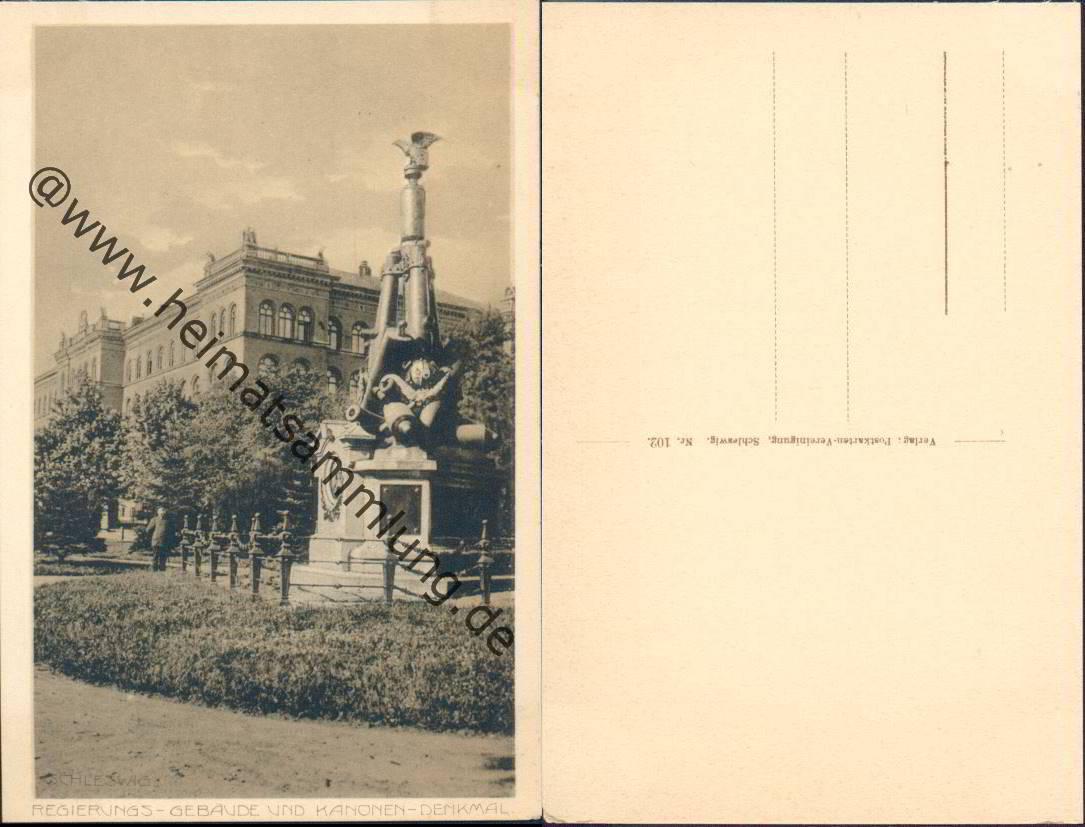 Regierungs gebäude und kanonen denkmal verlag postkarten