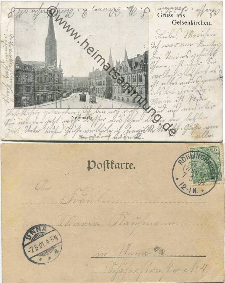 Historische ansichtskarten gelsenkirchen for Koch neumarkt