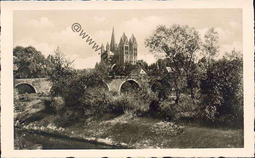 Limburg an der Lahn - Blick auf die Lahnbrücke und Dom - Verlag Trinks & Co.