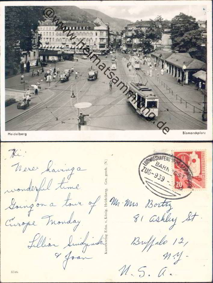 alte Postkarte Heidelberg