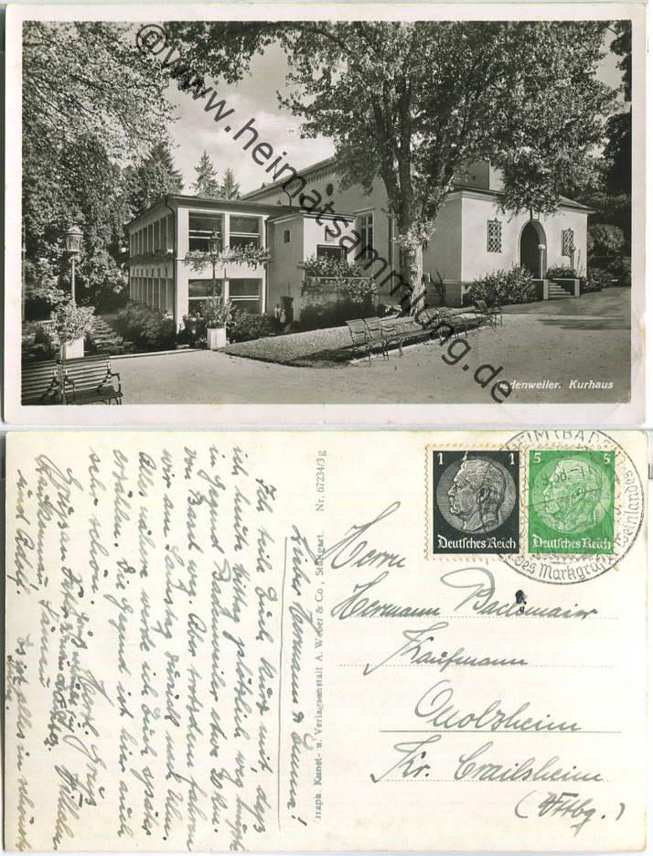 Historische Ansichtskarten Badenweiler