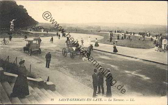 Cartes postales anciennes france departement yvelines - La poste st germain en laye ...