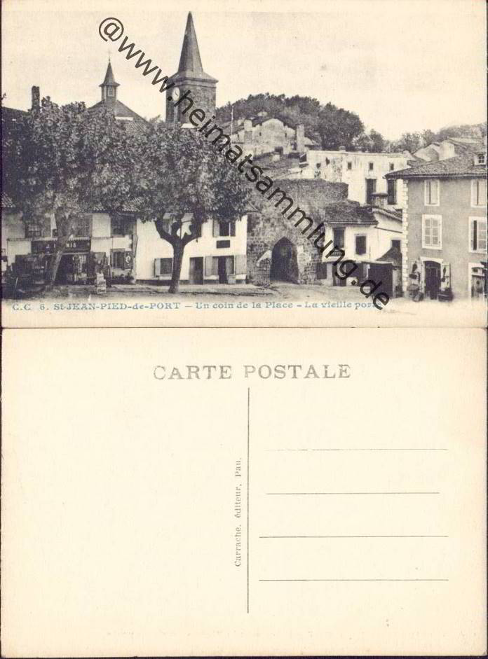 Cartes postales anciennes france departement pyrenees atlantique - Biarritz saint jean pied de port ...