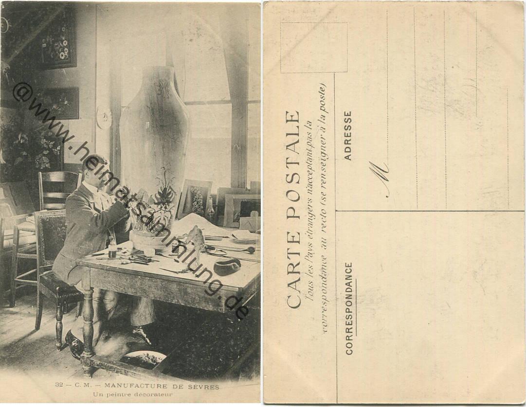 Cartes postales anciennes france departement hauts de seine for Peintre decorateur