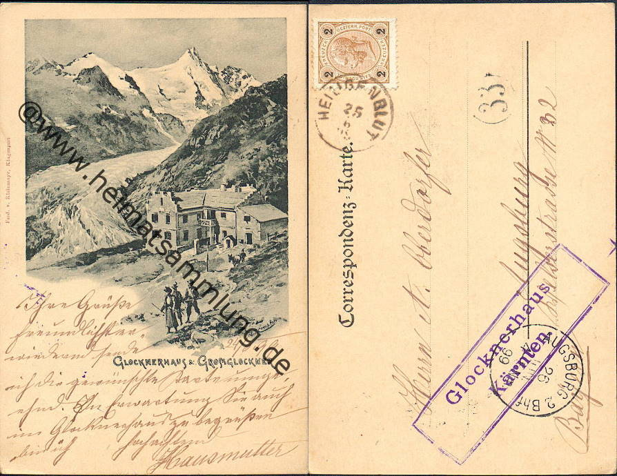 Heilengenblut Glocknerhaus Postkarte 1938