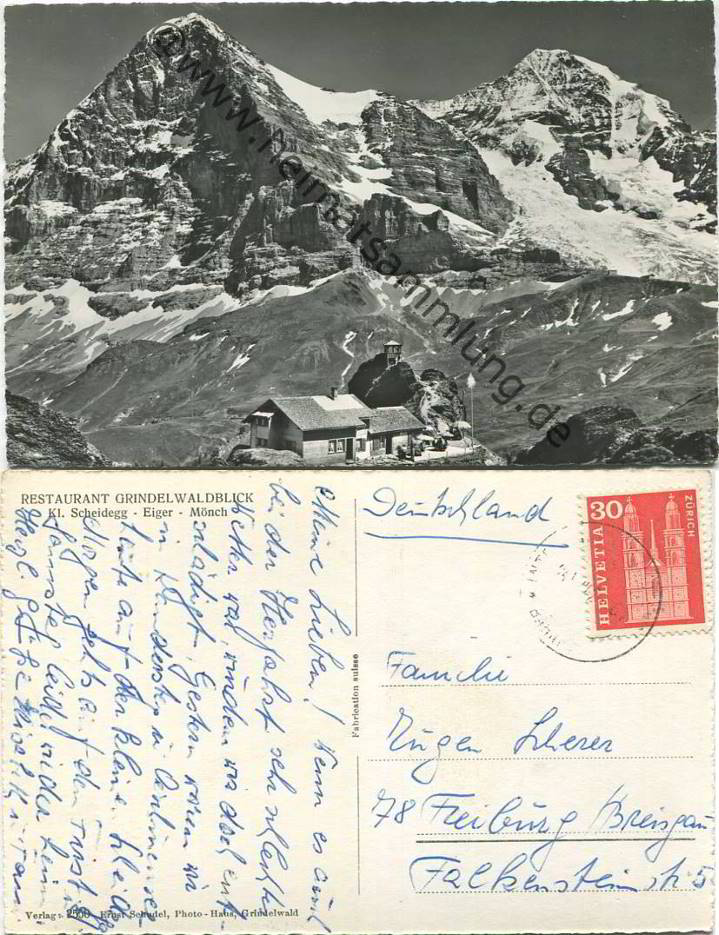 Historische Ansichtskarten Kanton Bern Scheidegg 01