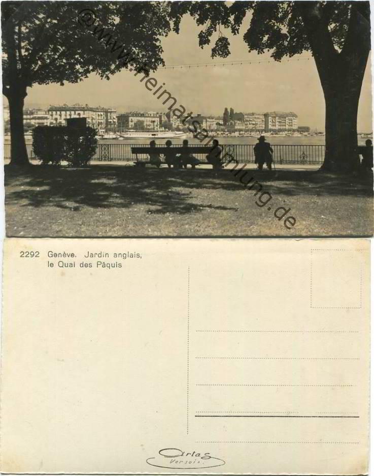 Historische ansichtskarten stadt genf 05 for Jardin anglais neuchatel