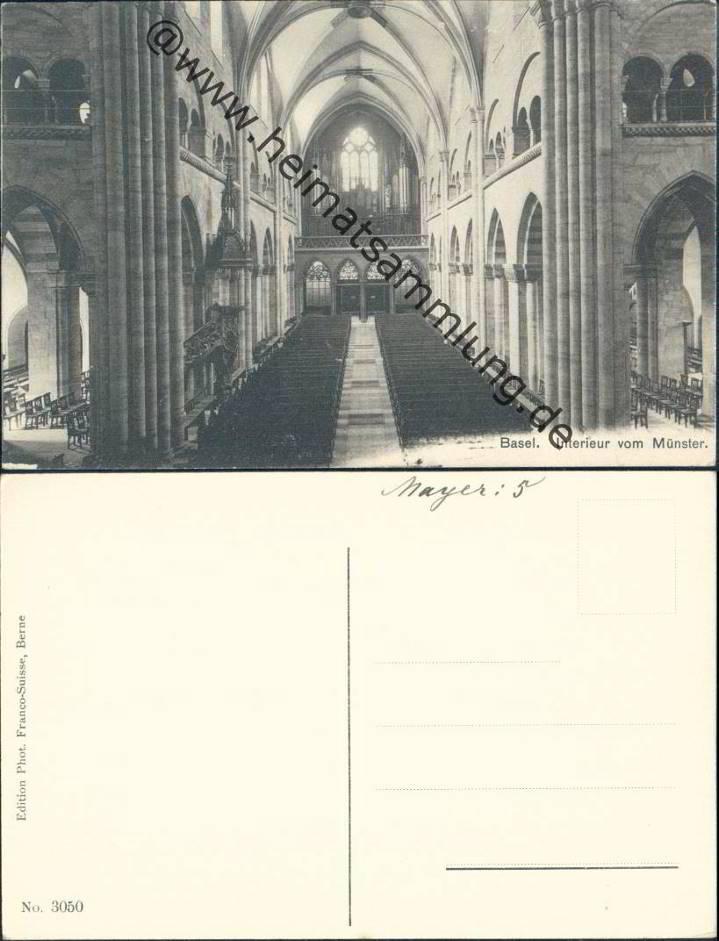 Historische ansichtskarten kanton basel m nster for Interieur verlag