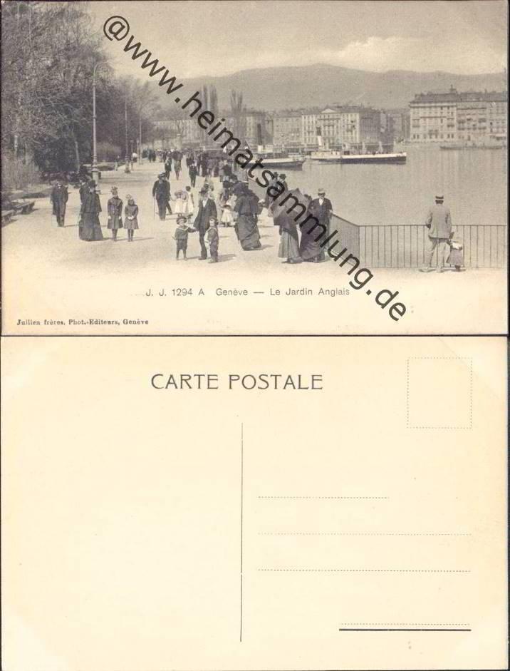 Historische ansichtskarten stadt genf 04 for Le jardin anglais geneve